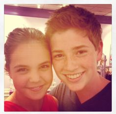 with my younger sis, Actress, Bailee madison