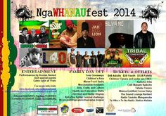 NGA WHANAU FEST! Not long to go! March 8 2014 in Taheke! House of Shem, L40, Jah Red Lion, Silva MC, Chad Chambers, Yesiyah, Dj Locksteady & Tribal Conexionz. Click on Poster for more details!!