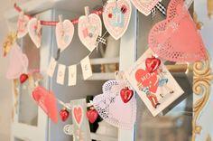 Vintage Inspired Valentine Garlands