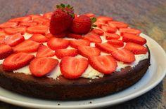 Gluten-free Sugar-free Low carb Strawberry Topped Almond Pound Cake | The Creative Caveman