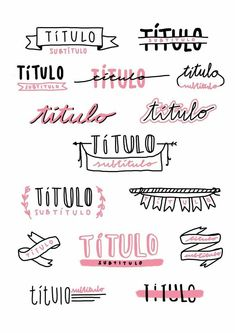 Handlettering, Bullet Journal - on We Heart It Bullet Journal School, Bullet Journal Headers, Journal Fonts, Bullet Journal Aesthetic, Bullet Journal Notebook, Bullet Journal Inspiration, Lettering Tutorial, Study Notes, Wattpad