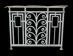 7.1 M RUN OF FRENCH WROUGHT IRON RAILINGS WITH GATE C.1900 - UK Architectural Heritage