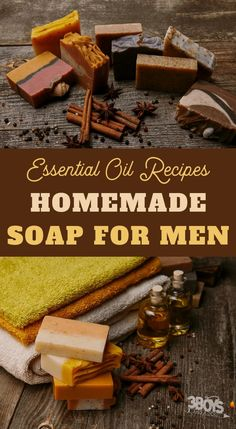 This essential oil soap recipe for men provides a woodsy, spicy scent that men will love. This recipe makes the perfect DIY gift for the men in your life! # Skin Care for men homemade gifts Essential Oil Soap Recipe for Men Handmade Soap Recipes, Soap Making Recipes, Handmade Soaps, Diy Soaps, Savon Soap, Mens Soap, Essential Oils Soap, Essential Oil For Men, Essential Oil Bath Bombs