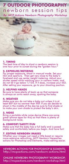 7 Tips for Your Next Outdoor Photography Newborn Session. Jodi Friedman, MCP Actions. http://www.mcpactions.com/blog/2013/05/17/7-tips-for-your-next-outdoor-photography-newborn-session/