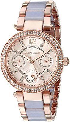 Michael Kors Womens Mini Parker Rose GoldTone Bracelet Watch Model MK6327 >>> Continue to the product at the image link.