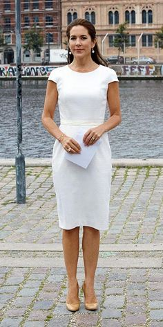 Crown Princess Mary of Denmark attended the meeting of the 'Women Deliver' and she raised a flag for the United Nation's new Global Goals at the Ministry of Foreign Affairs of Denmark on September 1, 2015 in Copenhagen.