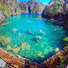 Kayangan Lake, Coron, Philippines. A lake in the middle of the sea. How was it? It was like a giant bathtub, doesn't even like the sea to your skin. It's because its fresh water is much greater than its sea water ratio. Oh and that view at the top before getting to the lake! I'd be back in a heartbeat.