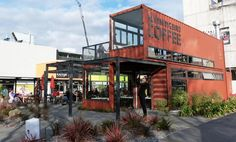 Re:Start -- Christchurch NZ. A pop-up shopping district via recycled shipping containers in an earthquake-devastated area.