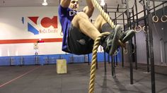 CrossFit rope climbing techniques with Jason Khalipa Spartan Sprint, Reebok Spartan Race, Rope Climb Crossfit, Crossfit Video, Climbing Technique, Crossfit Motivation, Climbing Rope, Functional Training, Workout Challenge