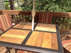 DIY fill in patio table frame