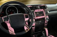 pink interior car | how to install details camo vinyl to deck out the interior of your car ...