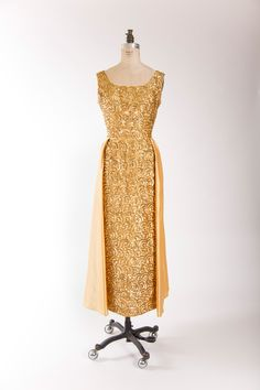 late 1950s gold sequin gown by Mike Benet SOLD