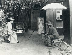 "Toulouse Lautrec painting Berta 'The Deaf' in the ""Père Forest"" Garden, c.1890 Henri de Toulouse-Lautrec"