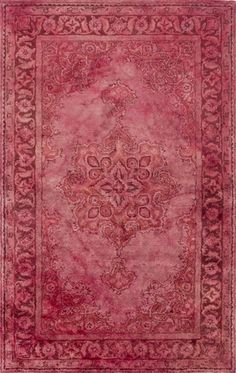 Overdyed 100% wool hand tufted rug from the Mykonos Collection at Surya (MYK-5013). #marsala