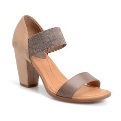 Women's B?rn 'Khate' Sandal (910 NOK) ❤ liked on Polyvore featuring shoes, sandals, born footwear, elastic-strap sandals, handcrafted shoes, born shoes and born sandals