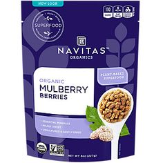 Sun-Dried White Mulberry Berries Ounces Bag) by Navitas Naturals at the Vitamin Shoppe Organic Superfoods, Meal Prep For The Week, Plant Protein, Organic Plants, Dried Fruit, Dried Berries, Sin Gluten, Gluten Free, Dairy Free