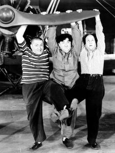 The Three Stooges, Dizzy Pilots, Curly Howard, Moe Howard, Larry Fine 1943
