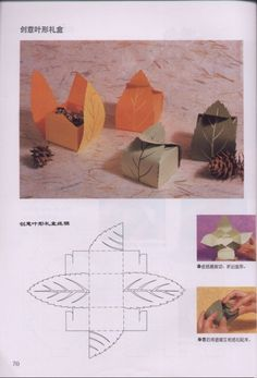 hmm... a copy from a japanese paper craft book, leaf boxes.