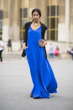 Couture fashion week 2014 - There's something so gorgeous about a super saturated lapis blue. Source: Le 21ème | Adam Katz Sinding