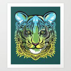Nocturnal Predator Art Print by Rachel Caldwell