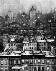 6 degrees of New York black and white