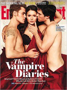 "Nina Dobrev, Ian Somerhalder, and Paul Wesley (""Vampire Diaries""). EW Feb. 2012"