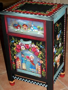 Folk Art Side Table 212
