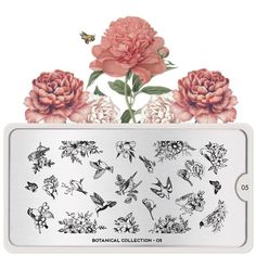 Discover our new botanical collection filled with blooming flowers, vintage blossoms, beautiful butterflies and lovely succulents. Perfect for any spring day! Stamping Nail Polish, Nail Stamping Plates, Moyou Stamping, Liquid Nail Tape, Nail Stamper, London Nails, Image Plate, Picture Polish, Blooming Flowers