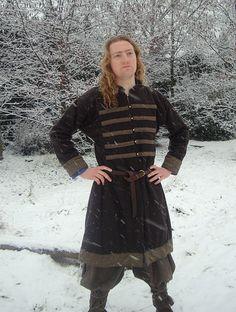 Early Medieval Scandinavian coat, Viking coat  form Birka, Historical Pattern , for Viking Reenactors, Viking Costume