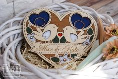 Personalized Wooden Holder for Wedding Rings Crazy About Handmade Wedding Gifts, Handmade Gifts, Engagement Box, Wooden Plates, Wooden Gifts, Skull Art, Laser Engraving, Ring Designs, Special Gifts