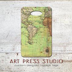 Set of 12 vintage map tags gift tags paper goods by nanticokelane vintage travel luggage tag vintage old world map bag tag antique map luggage tag gumiabroncs