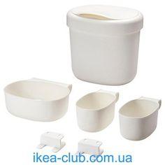 ИКЕА, IKEA, ОНСКЛИГ, 301.992.83, Конт д/хран к пелен столу, 4шт, белый