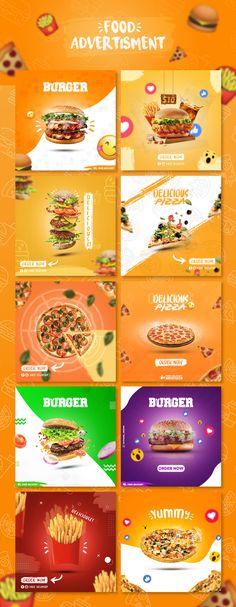 Food | Social Media Advertisment  Design By Vathana Meng Food Graphic Design, Web Design, Food Poster Design, Food Design, Social Media Poster, Social Media Branding, Social Media Design, Social Media Graphics, Instagram Feed Planner