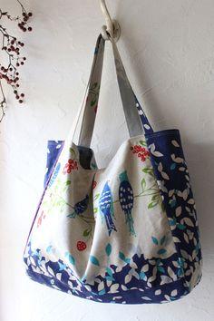 大きなマチつきタックトート | コッカファブリック・ドットコム|布から始まる楽しい暮らし|kokka-fabric.com