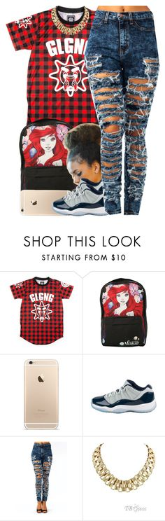 """""""August 14, 2k15"""" by xo-beauty ❤ liked on Polyvore featuring Disney and Retrò"""