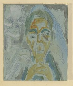 100 years ago today Germany declared war on Russia and ignited one of the deadliest conflicts in European history. Many artists romanticized war as a bringer of humanity. But for artists like Ernst. Karl Schmidt Rottluff, Ernst Ludwig Kirchner, Expressionist Artists, La Art, Watercolor Drawing, European History, Memento Mori, Artist Art, Apocalypse