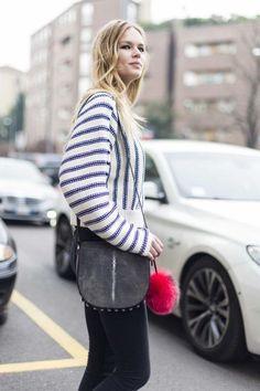 Street style from Milan fashion week autumn/winter '15/'16 :