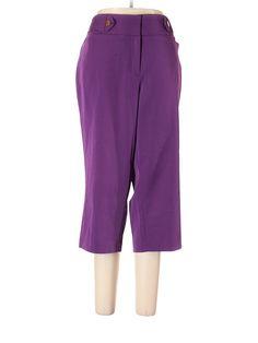 Ashley Stewart Dress Pants: Size 14.00 Purple Women's Bottoms - New With Tags - $13.99