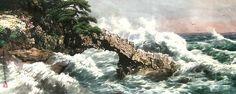(North Korea) Breaking Surf by Lee Cheol (1958-  ). 리철.