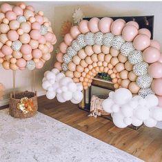 Baby Girl Birthday, Rainbow Birthday, 1st Birthday Parties, Birthday Ideas, First Birthday Balloons, Birthday Gifts, 2nd Birthday, Birthday Balloon Decorations, Baby Shower Decorations