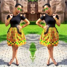 Online Hub For Fashion Beauty And Health: Smart And Lovely Ankara Short Skirt For The Cuties...