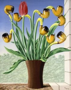 The Culture of Ideas by Rene Magritte(via @lonequixote)