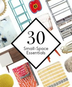 tells you about the 30 items you need to make your small space shine. Ahead, find the affordable home-decor picks you absolutely must have. Small Apartment Design, Small Apartments, Small Space Living, Small Spaces, Small Space Solutions, Affordable Home Decor, Cheap Furniture, Outdoor Furniture, Lettering Design