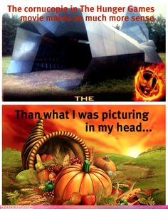 Hunger Games Cornucopia... exactly what I thought too :)
