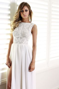 Ava white lace and silk formal prom bridesmaid by daysofglamour, $760.00