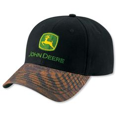 John Deere Stone Sandwich Hat Cap w Vintage Brown /& Yellow Logo Adjustable