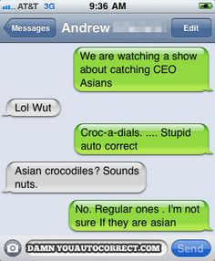 funny auto-correct texts - Must See TV