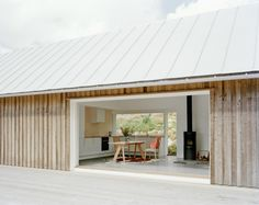 Timber cladding, steel grey roof, Summer House by Mikael Bergquist Sweden House, Casas Containers, Timber Cladding, Glamping, Interior Architecture, Building Architecture, Interior Design, House Plans, New Homes