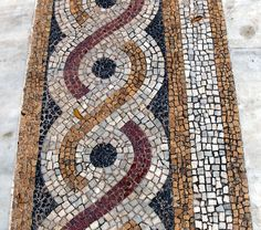 Mikrà Mitropolis | Flickr - Photo Sharing! Mosaic Designs, Mosaic Patterns, Geometric Designs, Mosaic Crafts, Mosaic Art, Greek Pattern, Ancient Romans, Ancient Greek, Greek Art