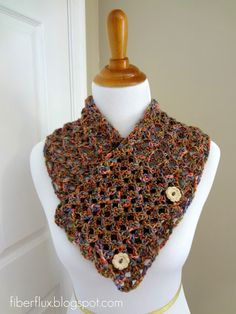 Fiber Flux...Adventures in Stitching: Free Crochet Pattern...Flower Patch Button Wrap